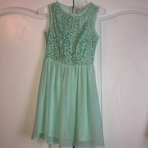 Sea foam/mint floral embroidered sundress